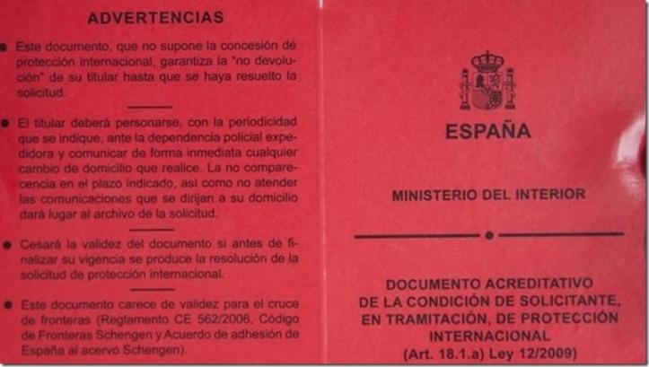 tarjeta roja.España